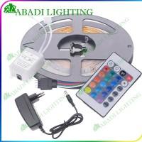 Lampu Led Strip RGB 2835 IP44 DENGAN ADAPTOR COLOKAN SAMBUNGAN DAN