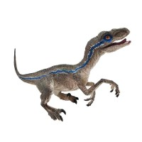 Velociraptor Blue Figure Dinosaurus Model Simulasi Dino