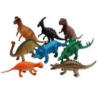 Set 8pcs Dinosaurus Karet Besar Mainan Miniatur Dino World