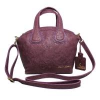 Hand Bag GVNCY Purple Motif -Kenes Leather