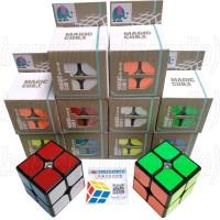 rubik 2x2 magic cube 2x2x2 yongjun yj yong jun blackbase mainan murah