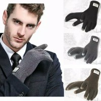 sarung tangan pria import / gloves touch screen wool winter