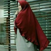 80x120 hijab/jilbab instan syar'i REMPEL JUMBO/khimar pet rempel jumbo