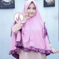 Hijab/jilbab JUMBO SOFIA pita belah kanan kiri/Khimar sofia instan