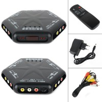 Onsale 1pc 4 in 1 out S Video Video Audio Switch 4 Port Video Game RCA