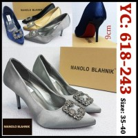 sepatu high heel wanita monolo blahnik jewel pump heel sepatu pesta