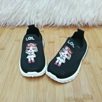 Sepatu Anak Slip On LOL LED Lampu Import