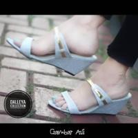 Harga lilyshoes hanna dalleya real pict sandal wedges casual pesta | Pembandingharga.com