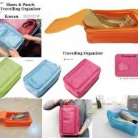 Colorful shoes pouch travel / tas sepatu / bag organizer