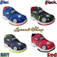 Sepatu anak laki-laki LED / Sport Car lampu / Kets Sekolah TK Record