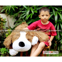 Boneka Anjing Coklat Ukuran Jumbo ( HK - 628180 )