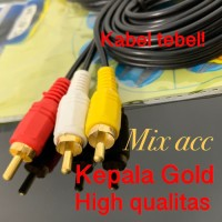 Kabel Aux 3.5mm Male to 3 RCA Male 1.5m / KABEL AUX 3.5 TO 3 RCA