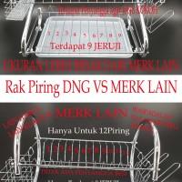 RAK PIRING STAINLESS STEEL SUSUN 2 DNG