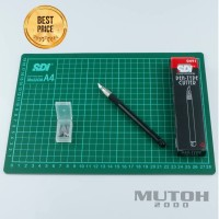 Cutting Mat A4 + Cutter Pen SDI