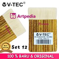 Kuas V-tec Bambu Sejajar 12 / Bambu (Type 10BS - 12) Kuas Sejajar 12