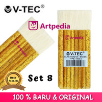 Kuas V-tec Bambu Sejajar 8 / Bambu (Type 10BS - 8) Kuas Sejajar 8