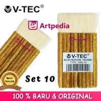Kuas V-tec Bambu Sejajar 10 / Bambu (Type 10BS - 10) Kuas Sejajar 10