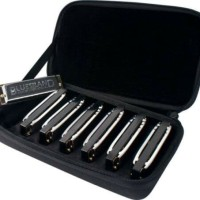 7 Key A to G Hohner Bluesband Harmonica Set of 7 with Case Blues Band