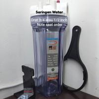 """saringan air/water filter transparan 10"""" (tabung saja)"""