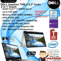 DELL Inspiron 7386 2 in 1 Intel Core i7-8565U/16GB/512GB/WIN10PRO/1YR