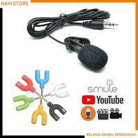 Paket Youtuber Vlogger Smule Rekaman - Mic Clip on & Audio Splitter