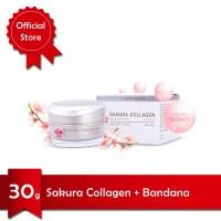 Sakura Collagen Cream 30g (2 pcs) + Free Bandana