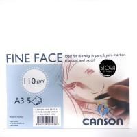 B21353 Canson Fine Face 110 Gsm A3 Kertas Gambar Pensil Conte Pastel P