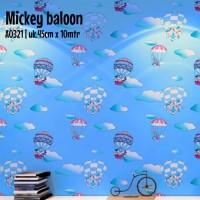 Harga mickey mouse awan biru uk 45cm x 10mtr wallpaper stiker | antitipu.com