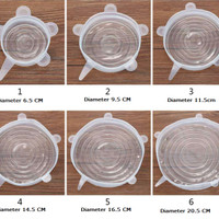 6 in 1 Stretch Bowl Cover Lid Silicone food cover E028