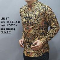 Harga baju kemeja batik slimfit lengan panjang casual formal odl | Pembandingharga.com