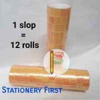 Harga isolasi solatip cellotape kado kecil ekonomis goldtape 1 2 inch | antitipu.com