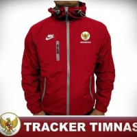 jaket tracker timnas indonesia / jaket taslan super waterproof