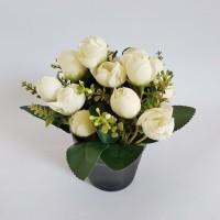 Jual Dekorasi Meja Cantik Vas Bunga Tulip Artificial Pot Plastik Hitam Vb21 Putih Kota Surakarta Surakarta Hadiningrat Tokopedia
