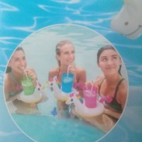 Unicorn 3 Drink Holders Set Floating - Intex 57506
