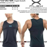 PASTI SALE FSS-007BR KAOS SINGLET FULL COVER FLEX FITNESS BEST DEAL