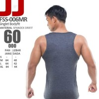 PASTI SALE FSS-006MR KAOS SINGLET FULL COVER FLEX FITNESS GYM BEST