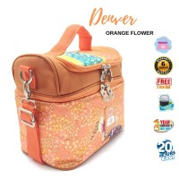 NAIMAX Cooler Bag Free Ice Gel 2pcs Tas Pendingin Asi - Orange Flower