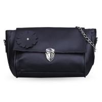 tas pundak wanita shoulder bag cewek hitam bunga tali rantai bta273