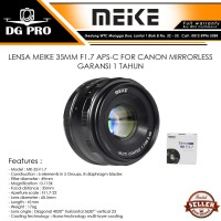 Lensa Meike 35mm F1.7 For Mirrorless CANON EFM EOS M3,EOS M10.EOS M50