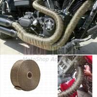 Exhaust Wrap Kain Pembungkus Pelindung Panas leher knalpot Motor Titan