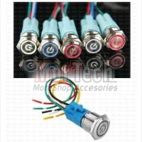 Switch Saklar Tombol Push On Off Nyala LED Nine Luminos semua Motor