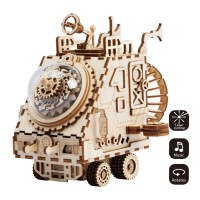 ROBOTIME Steampunk Music Box- AM681-Spaceship