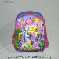 tas ransel sekolah anak tk paud 3D timbul kuda poni frozen kapten hero