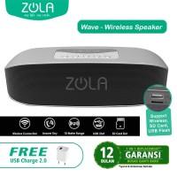 Harga zola wave bluetooth speaker portable support memory card supreme | antitipu.com