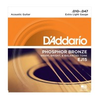 Senar Gitar D'addario Akustik EJ15 Original .010 - .047