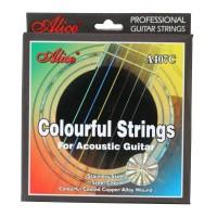 Alice senar warna pelangi untuk gitar akustik .011 A407C