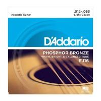Senar Gitar D'addario Akustik EJ16 Original .012 - .053