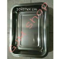 Nampan / Baki Stainless 20x27x4 cm