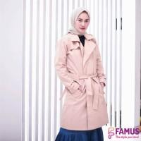 Blazer Muslimah Hijacket / Coat Jaket Blazer Wanita Size L - FAM 002