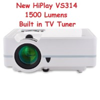 HIPLAY VS314 Mini Proyektor Projector 1500 Lumens + TV Tuner